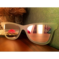 Derins Tasarım - Gözlük Ayna - Rakı Beyazı(Buzlu) Küçük Boy
