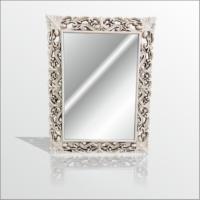 M3 Decorium Eskitme Rustik İşlemeli Krem Boy Banyo Duvar Salon Aynası