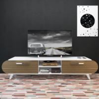 Eyibil Mobilya 180 cm Modern Kapaklı Tv Sehpası Tv Ünitesi Beyaz-Ceviz