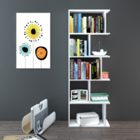 Eyibil Mobilya Melisa 5 Raflı Modern Kitaplık ( Derinlik 28 cm ) Parlak Beyaz