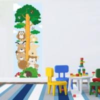 DekorLoft Orman Arkadaşları Boy Ölçer Sticker (Büyüme Tablosu) Gur005
