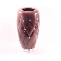 İkram Dünyası Kahverengi Vazo İşlemeli ( Özel Üretim )