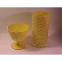 İkram Dünyası Sarı Vazo Ve Şekerlik Takım ( Özel Üretim )