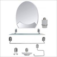 M3 Decorium 45X50Cm Metal Krom Banyo Tuvalet Lavabo Boy Duvar Aynası Seti