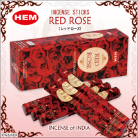 Hem Red Rose Incense Sticks - Kırmızı Gül Tütsü 20 Adet