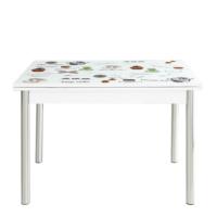 Evinizin Mobilyası Açılır Cam Mutfak Masası Latte Desenli