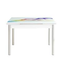 Evinizin Mobilyası Açılır Cam Mutfak Masası Şal Desenli