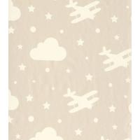 Bien 4871 Bulut Uçak Desen Duvar Kağıdı (5 M²)
