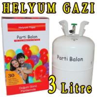 Direkstoktan Helyum Gazı 3 Litre Uçan Balon Gazı + 30 Adet Balon Hediyeli