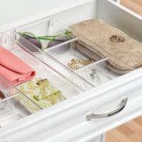 Çekmece içi ve üstü küçük eşya düzenleme kutusu 3 bölmeli