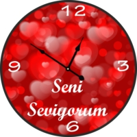 Markakanvas Sevgililer Günü Seni Seviyorum Duvar Saati
