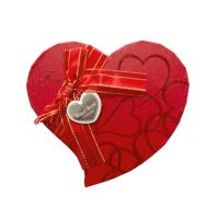 KullanAtMarket Altın Simli Kalp Kutu Orta Boy