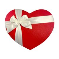 KullanAtMarket Saten Kurdeleli Kalp Kutu Büyük Boy