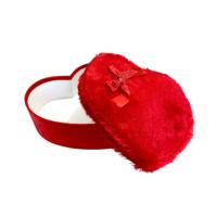 KullanAtMarket Peluş Kalp Kutu Kırmızı Orta Boy 23 Cm