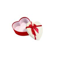 KullanAtMarket Kalp Kutu Kırmızı - Beyaz Küçük Boy 16 Cm