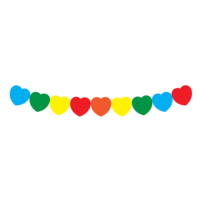 KullanAtMarket Renkli Kalp Zincir Süs