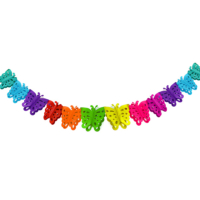 KullanAtMarket Renkli Kelebekler Zincir Süs