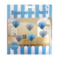 KullanAtMarket Mavi Kalp Petek Uzar Süs 6'Lı