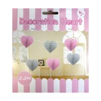 KullanAtMarket Pembe Kalp Petek Uzar Süs 6'Lı