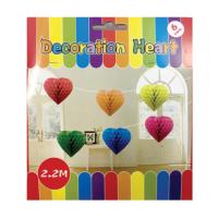 KullanAtMarket Renkli Kalp Petek Uzar Süs 6'Lı