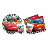 Alins Cars Süper Parti Seti 24 Kişilik
