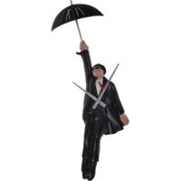 Antartidee Şemsiyeli Adam Tasarımlı Duvar Saati