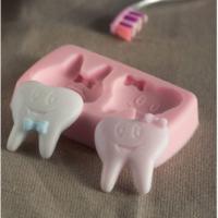 Pastamagaza Dişler Silikon,Mum,Kokulu Taş Kalıbı