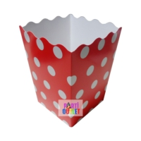 Partioutlet Popcorn Kırmızı Karton Kova - 10 Lu
