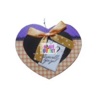 Partioutlet Mor - Sarı Renk Küçük Kalp Kutu