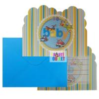 Partioutlet Baby Shower Davetiye Kartı - Mavi