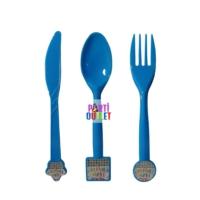 Partioutlet Happy Birthday Temalı Çatal Kaşık Bıçak Seti