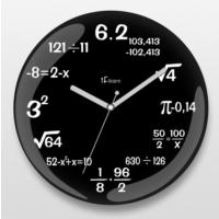 İf Dizayn İf Dizayn Matematik Duvar Saati Siyah