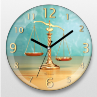 İf Dizayn Adalet Terazisi Avukatlar İçin Duvar Saati