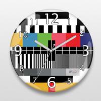İf Dizayn Retro Tv Test Tasarım Sessiz Duvar Saati