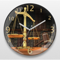 İf Dizayn Adalet Terazisi Sessiz Duvar Saati
