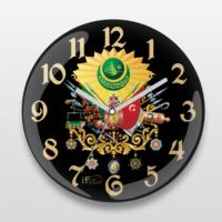 İf Dizayn Osmanlı Devlet Arması Sessiz Duvar Saati