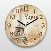 İf Dizayn Vintage Paris Eyfel Sessiz Duvar Saati