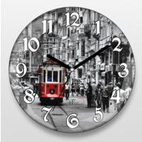 İf Dizayn İstanbul Taksim Tramvay Sessiz Duvar Saati
