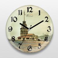 İf Dizayn İstanbul Kız Kulesi Sessiz Duvar Saati