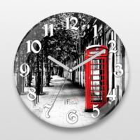 İf Dizayn Londra Telefon Kulubesi Sessiz Duvar Saati
