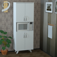 Pegai Nora 4 Kapak Raflı Mutfak Dolabı