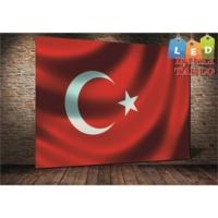 Yeshills Tablo Türk Bayrağı Led Işıklı Kanvas Tablo 60 X 90 Cm
