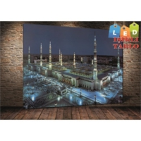 Yeshills Tablo Medine Led Işıklı Kanvas Tablo 60 X 90 Cm