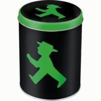 Nostalgic Art Yeşil Işık Yuvarlak Teneke Saklama Kutusu