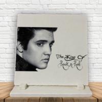 KFBiMilyon Elvis Presley The King Baskılı Doğaltaş Masa Dekoru