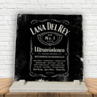 KFBiMilyon Lana Del Rey Whiskey Edition Siyah Baskılı Doğaltaş Masa Dekoru