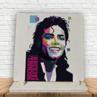 KFBiMilyon Michael Jackson King Of Pop Baskılı Doğaltaş Masa Dekoru