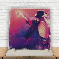 KFBiMilyon Michael Jackson Popart Baskılı Doğaltaş Masa Dekoru