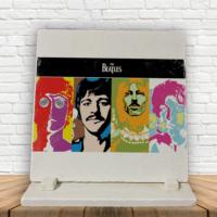 KFBiMilyon The Beatles Artwork Baskılı Doğaltaş Masa Dekoru