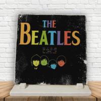 KFBiMilyon The Beatles Colors Baskılı Doğaltaş Masa Dekoru